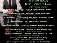 MICHAEL ENGLISH – TAKE ME HOME IRISH CONCERT TOUR