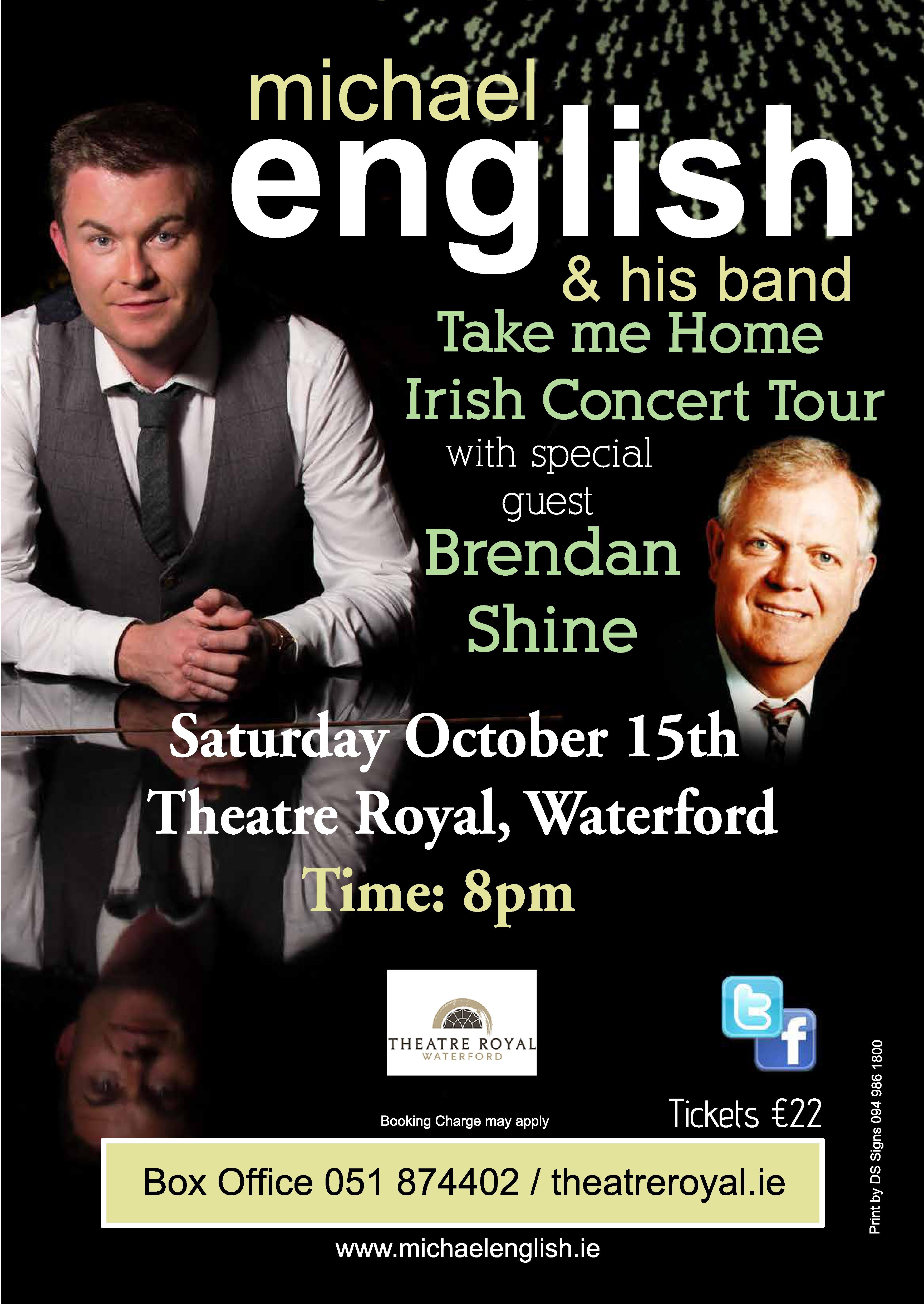 Michael English Irish Tour Dates