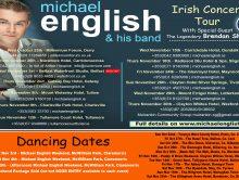 MICHAEL ENGLISH – IRISH CONCERT TOUR OCT/NOV 2017