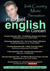 Michael english all tour dates england UPDATED