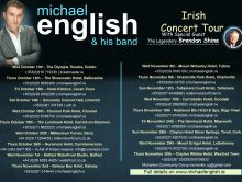 MICHAEL ENGLISH – IRISH CONCERT TOUR OCT/NOV 2017