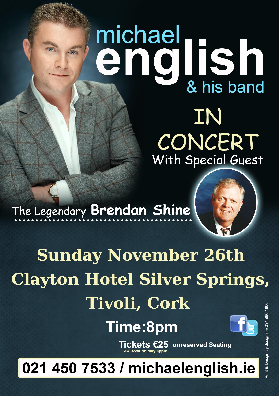clayton hotel, silver springs, cork – sunday november 26th michael