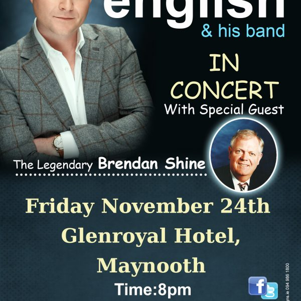 michael english maynooth tour 2017 flyer