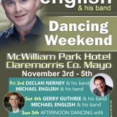 MICHAEL ENGLISH DANCING WEEKEND – MCWILLIAM PARK HOTEL, CLAREMORRIS, CO. MAYO