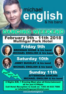 michael dancing weekend 2018 mullingar