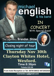 michael english Wexford tour 2017 flyer