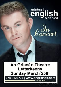 michael english an grianan centre poster