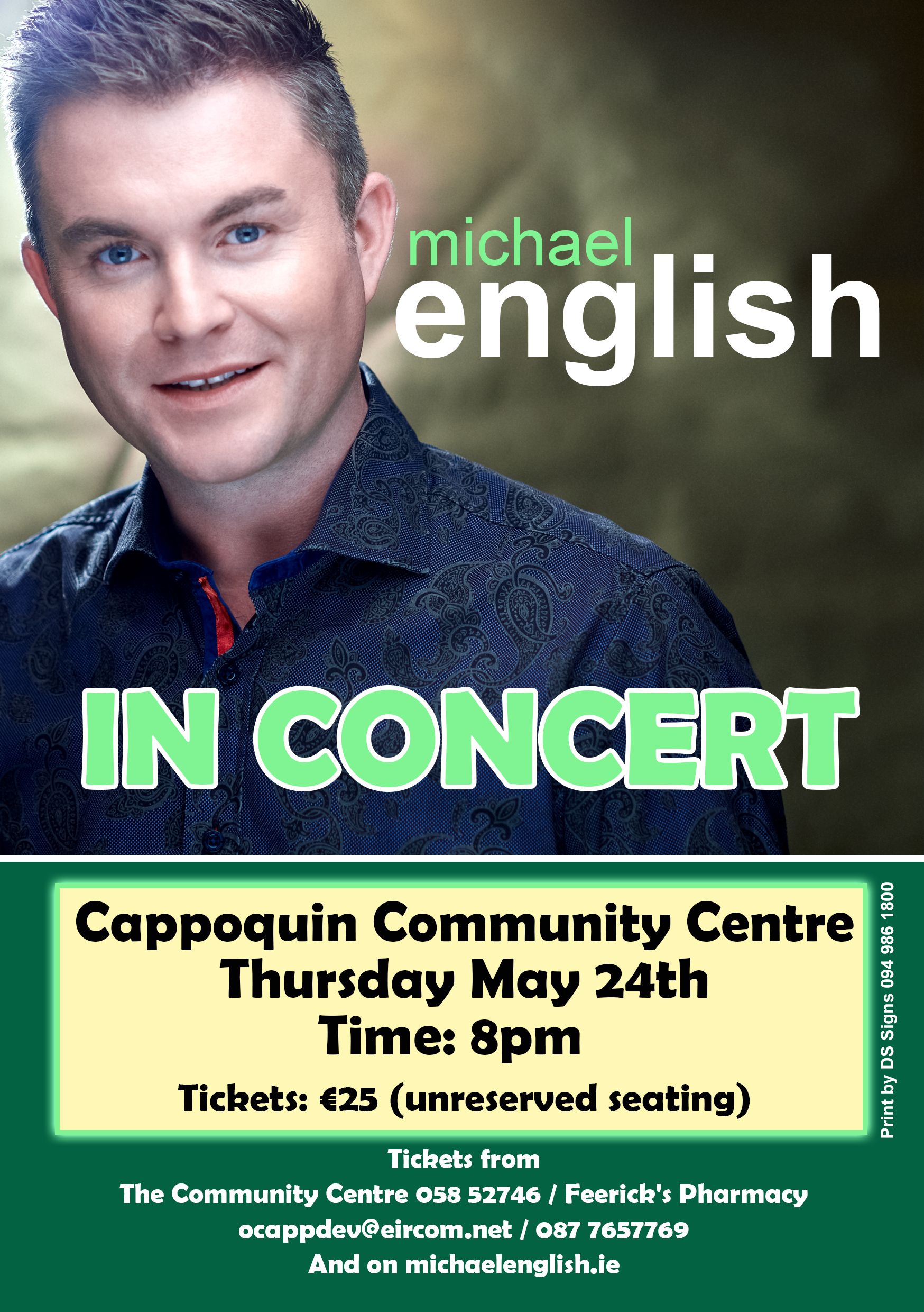 Michael English Tour Dates and Concert Tickets | Eventful