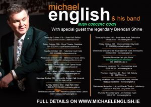 MICHAEL ENGLISH ALL DATES IRISH TOUR POSTER