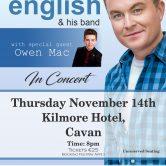 IRISH CONCERT TOUR – HOTEL KILMORE, CAVAN TOWN