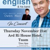 IRISH CONCERT TOUR – ARD RÍ HOTEL, TUAM, CO. GALWAY