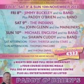 DANCE – PADDY O BRIEN WEEKEND, CLAYTON WHITES HOTEL, WEXFORD
